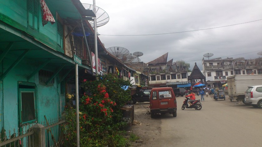 A village close to Lake Toba, Sumatra