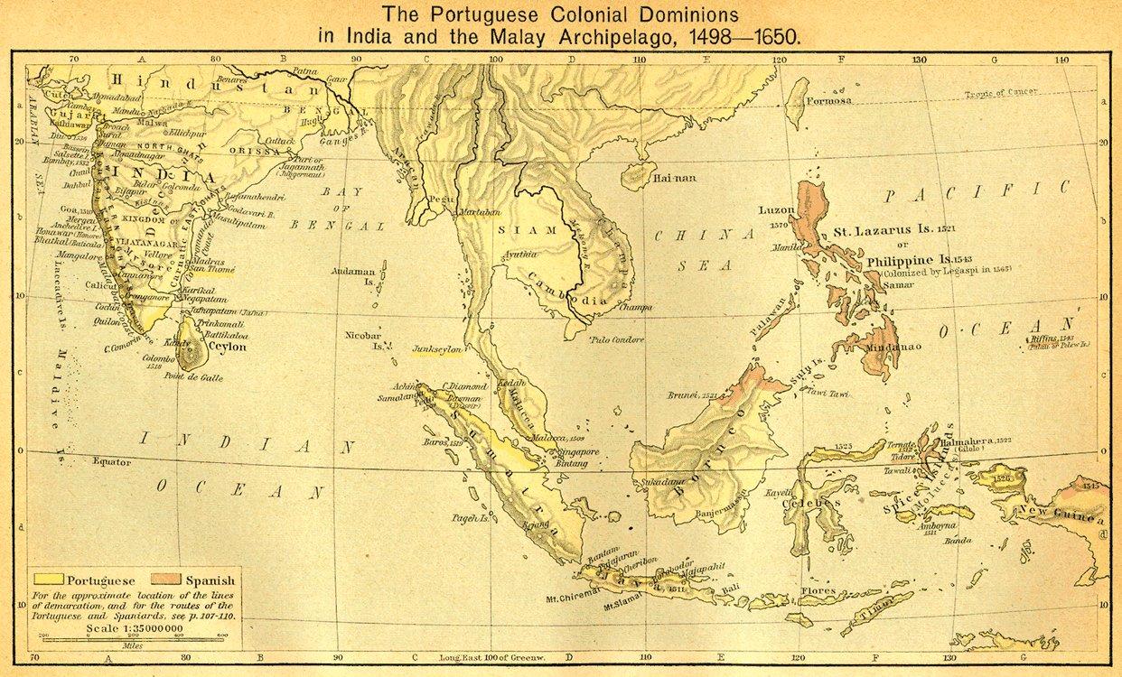 Sydøst Asien via havet