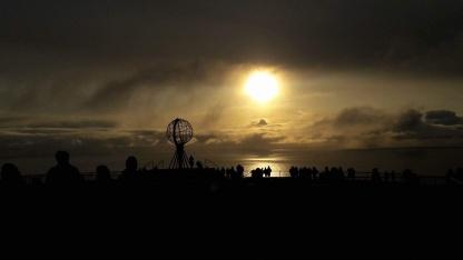 Midnats sol over nordkap